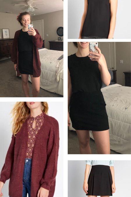 On sale black mini skirt and oversized cardigan #liketkit @liketoknow.it http://liketk.it/2SyRV