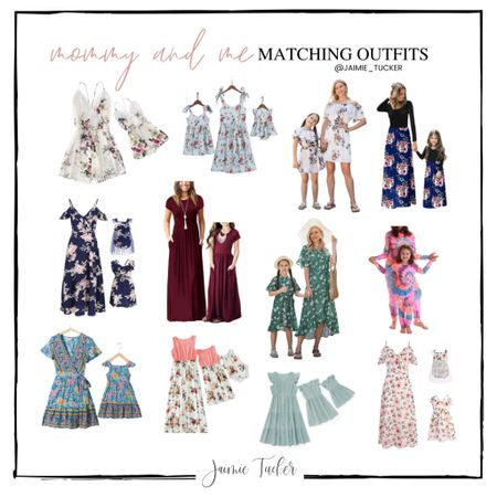 Spring is the perfect-time to restock on some dresses! Why not get your mini's some too? Check out these best selling mommy and me outfits from Amazon! | #mommyandme #matchingoutfits #matchingdresses #Amazonfashion #Amazonfinds #matchingjumpsuits #mommyandmedresses #JaimieTucker   #LTKstyletip #LTKSpringSale #LTKkids