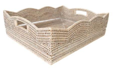 Scalloped rattan tray #LTKstyletip #LTKhome #LTKfamily http://liketk.it/3fFP4 #liketkit @liketoknow.it