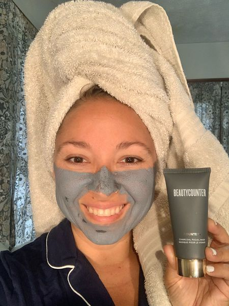 It's self care Sunday and I'm pampering myself with clean skincare : Beautycounter. I cleansed my face with the Cleansing Balm (my #1 fav), then washes my face with the Cococream a cleanser. I'm currently doing the Charcoal Mask to detox my skin. I'll follow up with the Countertime Supreme Cream. When you spend $125 you get a freebie! Choose Darby Warren as your consultant during checkout.   Skincare : Skincare Routine : Beauty : Face Mask  #LTKbeauty #LTKsalealert #LTKunder50
