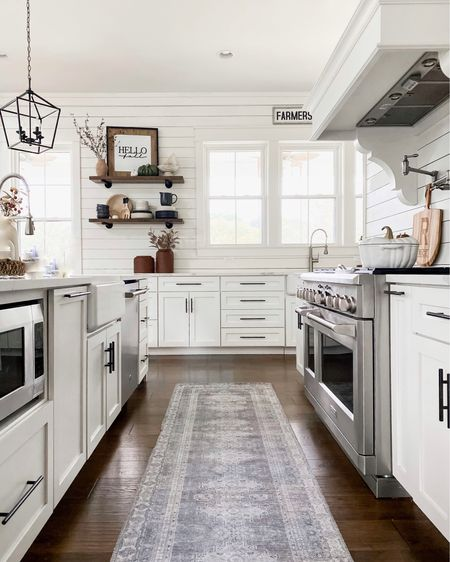 Walmart washable rugs and runners! Perfect for your kitchen and bathroom. Modern farmhouse home design and decor affordable accents kitchen design pendant  lighting open shelving dishes and tabletop dinner ware gap home Walmart home  #LTKunder50 #LTKhome #LTKunder100