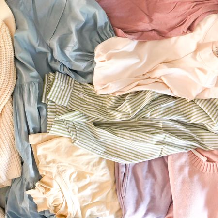 """My preferred color palette for the foreseeable future 😍 I never used to be a pastels person but lately I can't get enough light colors in my wardrobe- I'm finally finding what feels most """"me"""" & I've found that I like more muted colors like sage, light blues, & pinks as opposed to the more sherbet-y pastel shades like mint & aqua. What's your go-to color palette this season?  #liketkit @liketoknow.it #LTKunder100 #LTKstyletip #LTKunder50 http://liketk.it/3fMoL #LTKseasonal #competition #LTKsustainablestyle #summerstyle #springstyle #capsulewardrobe #summerdresses"""