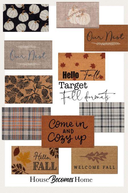 Target fall doormats   #LTKstyletip #LTKhome #LTKSeasonal