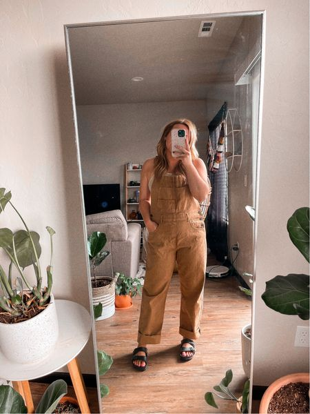 Overalls Free people Fall outfit styles Women's overall Wearing size medium, color is pioneertown   #LTKstyletip #LTKunder100 #LTKSeasonal
