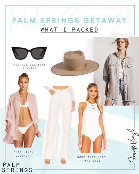 @liketoknow.it #liketkit http://liketk.it/3bIyl desert getaway with linen cover up, taupe hat, white bodysuit and the best shacket from freepeople #LTKSpringSale #LTKtravel #LTKunder100