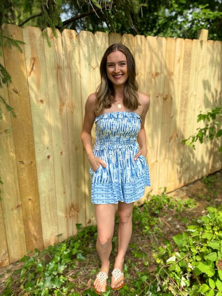 Fourth of July outfit blue and white romper floral blouse mom outfit mom style mom hair modest outfit floral top outfit idea summer outfit flowy romper  Amazon outfit Amazon top Amazon best selling Amazon dress Amazon romper  #LTKstyletip #LTKsalealert #LTKunder50
