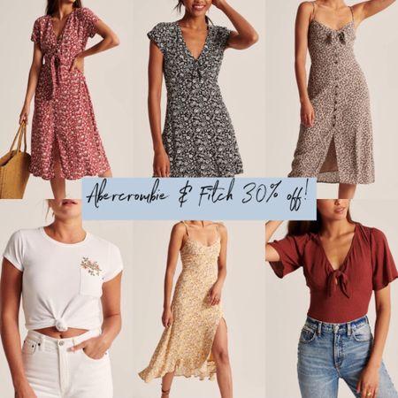 LTK DAY!  Abercrombie & Fitch: 30% off!  http://liketk.it/2SqyQ @liketoknow.it #liketkit   #LTKDay #LTKsalealert #LTKunder100  Summer outfit, midi dress, maxi dress, flora print, graphic tee