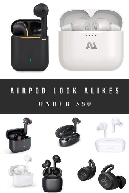 AirPod look alikes under $50! http://liketk.it/3g6n3 #liketkit @liketoknow.it #LTKunder50 #LTKfamily #LTKtravel