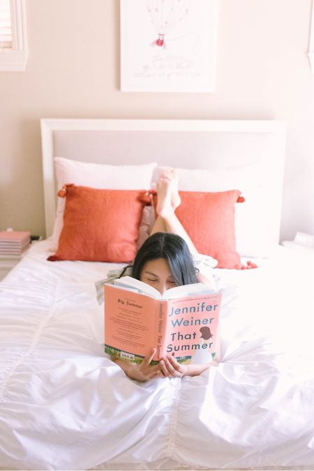 Book recommendation - That Summer by Jennifer wiener. I'm wearing a smocked dress with pockets and it's under $50 and true to size. My pillow covers are Serena & Lily pillow covers - love the quality. These are linen pillow covers.   #LTKstyletip #LTKhome #LTKbacktoschool
