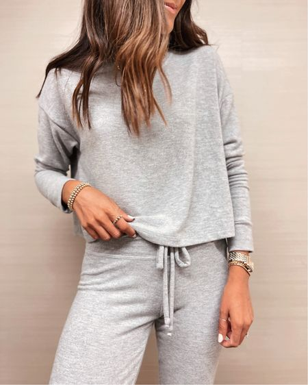 Loungewear, lounge set, top is on sale today, comfy style, StylinbyAylin   #LTKstyletip #LTKSeasonal #LTKunder100