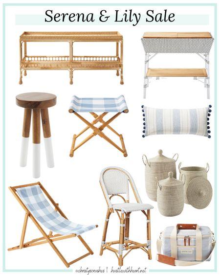 Serena & lily sale     Blue and white  Coastal  Home decor  Outdoor furniture  Interior design  Kitchen Bar stool  http://liketk.it/3gfYQ #liketkit @liketoknow.it #LTKsalealert #LTKhome #LTKunder100