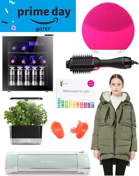 Amazon Prime Day finds to spoil yourself with!    Amazon jacket Amazon parka reckon styling brush foreo Lina 2 23 and me genetic testing ancestry testing health testing wine fridge wine cooler beer fridge aero garden plants planting earbuds Sony headphones Cricut arts and crafts cricut maker   #LTKsalealert #LTKstyletip #LTKhome