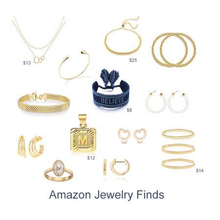 Amazon Jewelry Finds. My favorite small delicate jewelry all under $50 #founditonamazon gold jewelry delicate jewelry    #LTKunder50