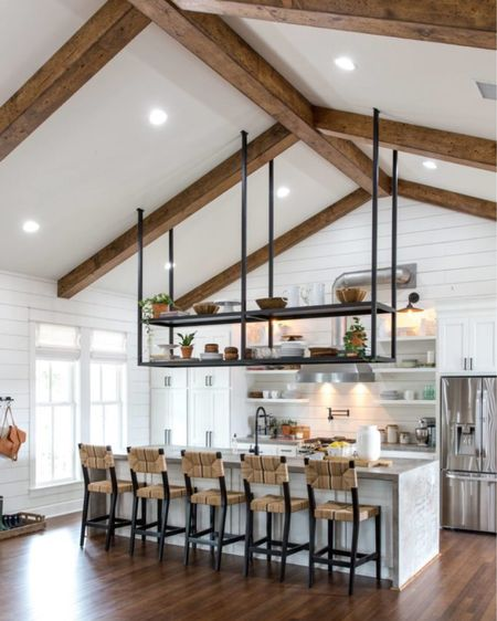 Get The Look: Little Shack on the Prairie Kitchen by Fixer Upper.  . . . 📷: @magnolia  https://www.remodelaholic.com/get-look-fixer-upper-little-shack-prairie-kitchen/ #kitchenseating #poolhouse #poolhousedecor #poolhousedesign #kitchendesign #kitchenbooth #kitchen #ceilingbeams #houseenvy #luxuryhomes #customehomes #homedesign #interiorinspirations #paradeofhomes #kitchentable #interiorstyle #kitchenview #imaremodelaholic #summerkitchen #fixerupper #magnolia http://liketk.it/3gIaT #liketkit @liketoknow.it