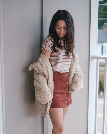 Happy Friday! So many of you guys loved this skirt yesterday and rue21 has a similar version on their website right now for $20! Check out my stories for more!   http://liketk.it/2yyZk @liketoknow.it #liketkit #LTKunder50 #LTKstyletip #LTKunder100