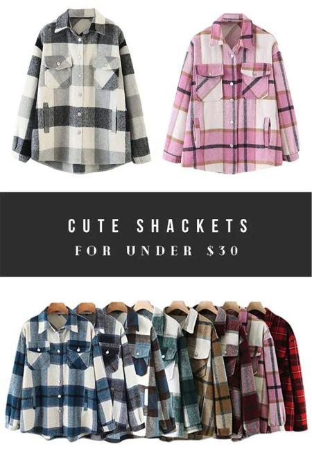 Cute shackets on Amazon! Fall outfits. Fall flannels.   #LTKsalealert #LTKstyletip