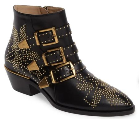 Ankle studded bootie, Nordstrom bootie, Chloe boot, amazon boot,   #LTKSeasonal #LTKshoecrush #LTKstyletip