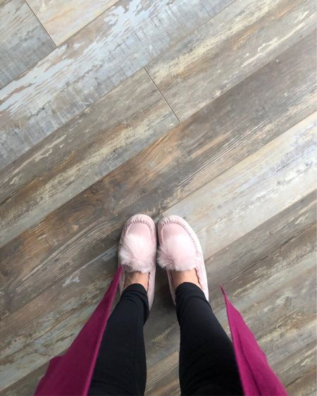I'm constantly wearing these pink pom slippers by Ugg. I linked a few similar options that are less expensive! http://liketk.it/2DAg8 #liketkit @liketoknow.it
