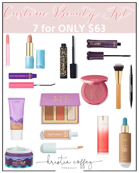 Custom tarte beauty kits on sale NOW...7 products for $63! http://liketk.it/3hFwp #liketkit @liketoknow.it #LTKunder100 #LTKsalealert #LTKbeauty #everydaymakeup #tarte