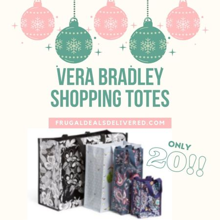 Walmart carries Vera Bradley?!? And you do not want to miss out on these Vera Bradley shopping totes for only $20 shipped! 😱 You can instantly shop all of my looks by following me on the LIKEtoKNOW.it shopping app Screenshot this pic to get shoppable product details with the LIKEtoKNOW.it shopping app #LTKhome #LTKitbag #LTKstyletip http://liketk.it/34cIQ #liketkit @liketoknow.it @liketoknow.it.home @liketoknow.it.family
