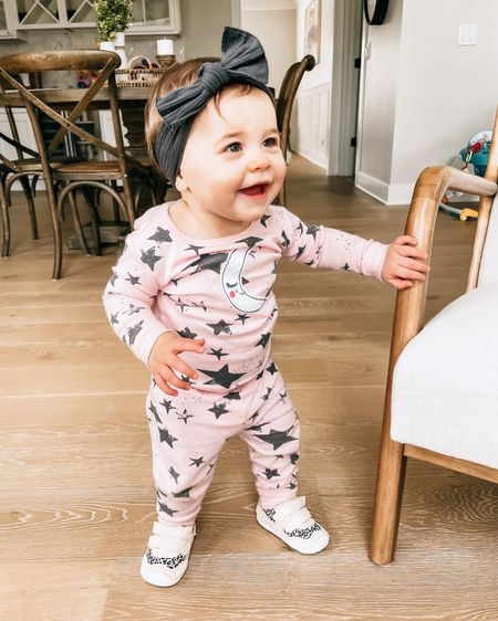 someone is feeling herself in her very first walking shoes (and jams)! 🤩  btw - these jammies come in toddler sizes too so isla has them too so they can match - i'll link everything here: http://liketk.it/30NTi  and on @liketoknow.it    #liketkit #LTKbaby #LTKkids