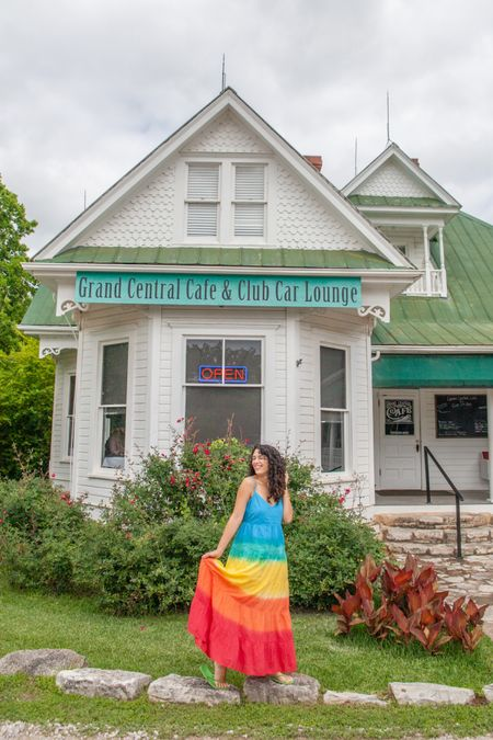 Rainbow maxi dress summer dresses Amazon outfits   #LTKunder50 #LTKsalealert #LTKunder100