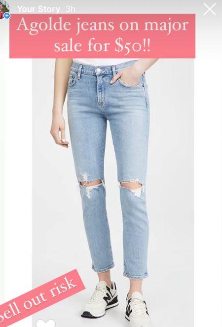 Agolde jeans on major Sale #jeans #denim #falloutfits #fallstyle   #LTKunder100 #LTKunder50 #LTKsalealert