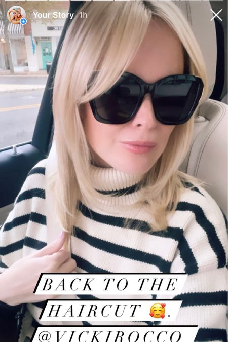 Linking today's sweater and sunglasses