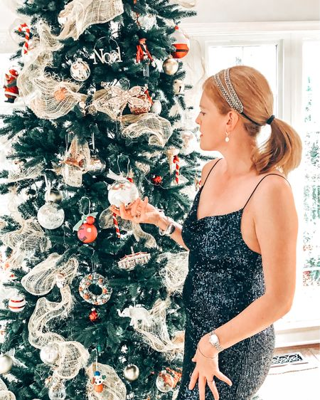 ✨ It's officially the Holiday season or should we say Sequin season 💃🏼 Who else loves dressing up when decorating their Christmas tree? Wishing you all a happy new week! 💋 You can instantly shop all of my looks by following me on the LIKEtoKNOW.it shopping app @liketoknow.it #liketkit http://liketk.it/33ixr