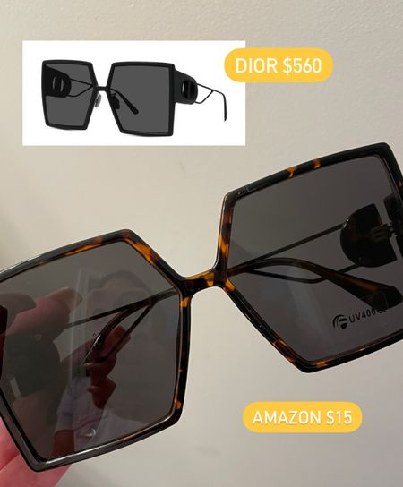 Amazon dior dupe sunglasses   #LTKunder50