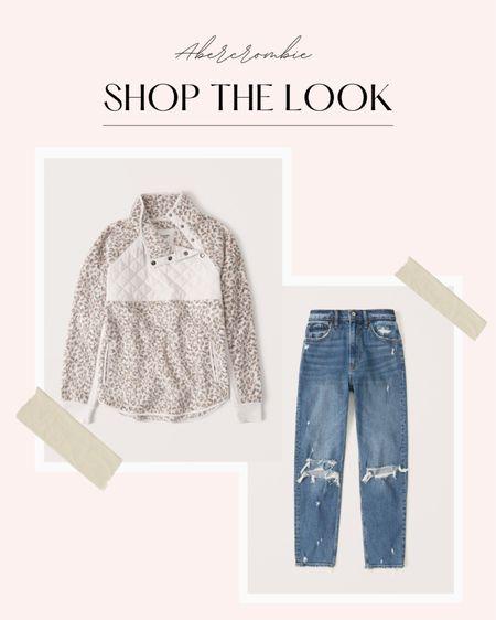 Abercrombie finds  #abercrombie #abercrombiefinds #fleece #momjeans #jeans #abercrombiejeans  #LTKunder100 #LTKsalealert #LTKstyletip