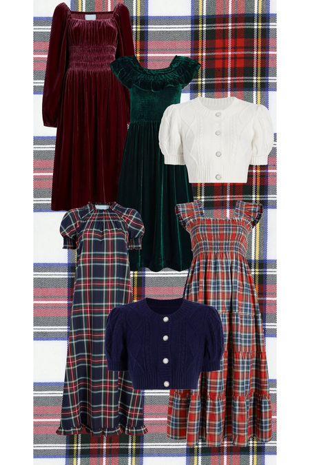 Hill House tartan holiday launch picks! Christmas dresses and thanksgiving dresses!   #LTKHoliday #LTKSeasonal