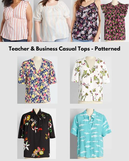 I'm doing requests from my Instagram. Here are my favorite patterned teacher/business casual tops! This only includes ModCloth, Lane Bryant & Maurices. So many cute options!  #LTKSeasonal #LTKcurves #LTKstyletip
