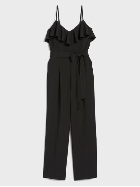 Good Morning!! Scrolling through some of my favorite retailers this morning I came across this black ruffle jumpsuit!! I'm in love. ❤️ It's also on major sale!! Normally $109.99 on sale for $19.99- PLUS another 20% off at checkout making it $15.99!!! #nojoke  Several sizes left!! This would be a great staple piece for your wardrobe and the price makes it even better!  • •  http://liketk.it/3bZZ4 #liketkit @liketoknow.it  • •  Shop my daily looks by following me on the LIKEtoKNOW.it shopping app  • •  #LTKsalealert #LTKcurves #LTKSpringSale