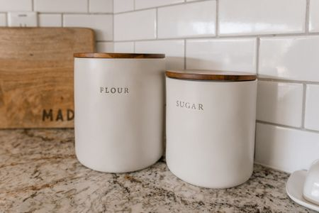 These Magnolia canisters are the perfect pair for any farmhouse kitchen❤️   http://liketk.it/315s1 #liketkit @liketoknow.it #LTKhome @liketoknow.it.home Download the LIKEtoKNOW.it shopping app to shop this pic via screenshot