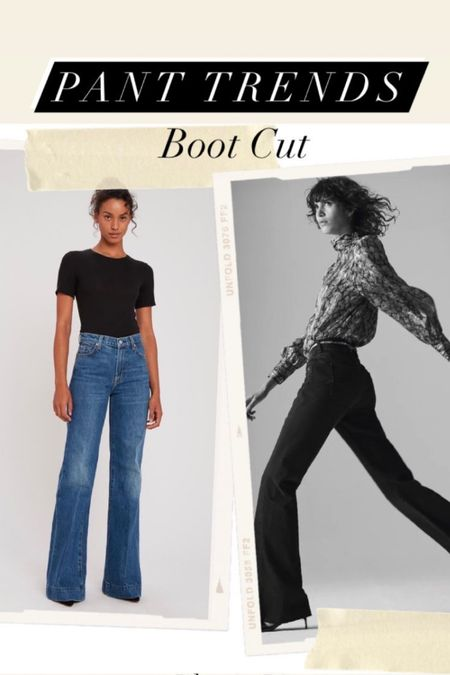 PANT TREND ALERT // It's all about the boot cut flare Jean for the ultimate cool! Pair with a simple tee or with a blouse and belt. Shoes, it all works from sneakers to heels. *Stylist Tip* I Own a pair that I had hemmed to a length for my sneakers and/or flip flops. Then I own multiple pairs with the length that I love for heels and/ or boots.  #panttrends #ss21trends #springpanttrends #summerpanttrends #bootcutjeans #flarejeans http://liketk.it/3dVxC #liketkit @liketoknow.it #jbrand