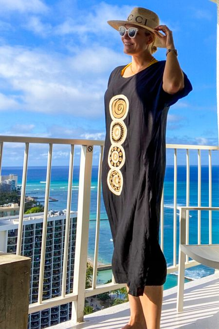 One of my fav ways to dress on vacation - in all the #caftans please. Shop this look 👉   #LTKcurves #LTKswim #LTKtravel