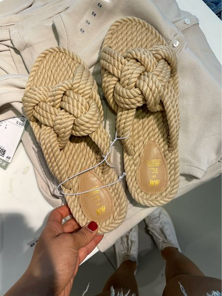 These rope / braided slides are so affordable and perfect for summer! They come in black and dark orange too!   #LTKunder100 #LTKunder50 #LTKSeasonal