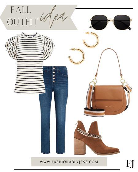 Fall outfit, denim, booties, work outfit  #LTKunder100 #LTKstyletip #LTKshoecrush