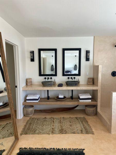 Bathroom remodel, double sinks, master bathroom, his and her sinks  #LTKHoliday #LTKsalealert #LTKhome