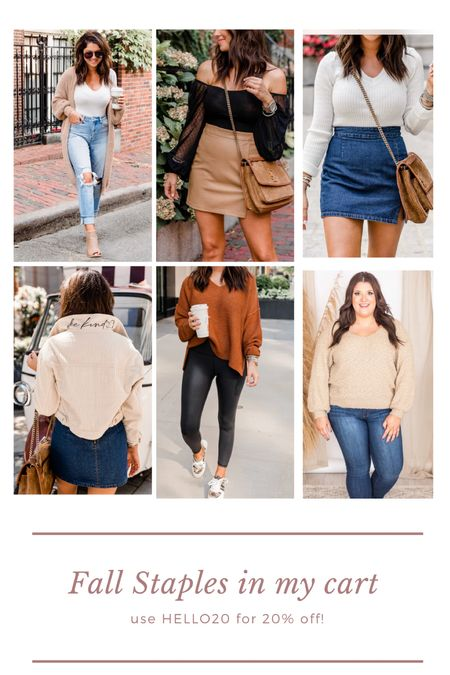 Dying over all these fall pieces! Run!!! Because they will sell out!! Use HELLO20 to save  #LTKsalealert #LTKstyletip #LTKSeasonal