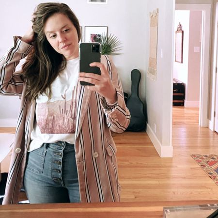 Major self employed perk: jeans and tee all the time http://liketk.it/2Zo5B #liketkit @liketoknow.it #LTKworkwear #LTKcurves Follow me on the LIKEtoKNOW.it shopping app to get the product details for this look and others @liketoknow.it.home