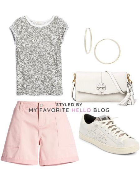 Summer vacation outfit with shorts and sneaker. Sightseeing outfit   #LTKunder100 #LTKtravel #LTKunder50