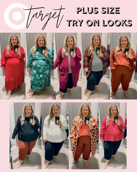 Sharing tons of plus size fall outfits and a couple plus size holiday outfit ideas in my latest plus size Target try on! I found plus size matching sets, plus size coatigans, and plus size fall family photos dresses! As soon as I can find the houndstooth cardigan I will link it!   #LTKunder50 #LTKHoliday #LTKcurves