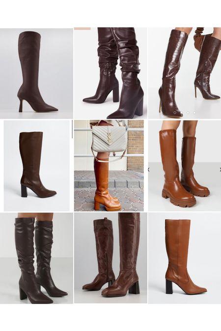 Autumn brown high knee boots   #LTKSeasonal #LTKeurope #LTKstyletip