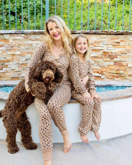 Cozy in animal print loungewear  #liketkit http://liketk.it/2Zp9V @liketoknow.it #animalprint #cheetah #cheetahprint #leopard #leopardprint #matchingoutfits #matchymatchy #sleepwear #loungewear #mommyandme