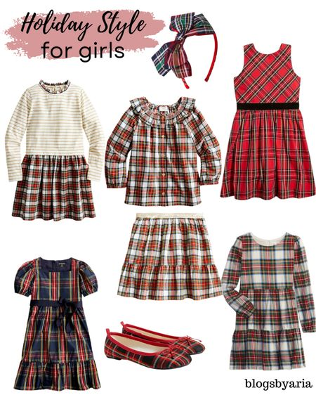 Holiday style for girls with lots of tartan plaid!! Perfect for Christmas parties and family photos   #LTKfamily #LTKkids #LTKHoliday