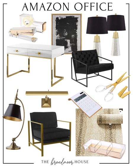 Amazon home, Amazon Finds, AMAZon office, office furniture, glam, lamps, marble, brass Decor, picture light, art light, Living room Furniture, Accent chair, side chair, living room rug, area rug, antelope, neutral rug, neutral Decor, black desk, white desk, home-office, clear, Lucite, acrylic, office supplies, wall art, modern art, teacher  #LTKstyletip #LTKfamily #LTKhome