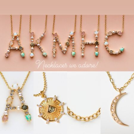 Monogram opal chain moon dream catcher stackable statement necklaces we adore. Necklace gift idea - Mother's Day #liketkit #LTKMothersDay #StayHomeWithLTK #LTKspring @liketoknow.it http://liketk.it/2NR47 @liketoknow.it.family