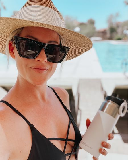 Summer ready 😎 #LTKswim #LTKunder50 #LTKunder100 #swimsuit #onepiece #swimmie #lulus #lovelulus #sunglasses #sunnies #amazonfashion #waterbottle #bottle #flask #asobu #asobubottle #sunhat #hat #poolside #vacay #beach #suncreen #sunprotection #liketkit @liketoknow.it http://liketk.it/3glU2